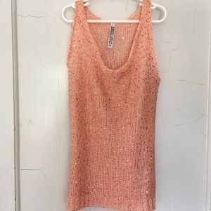 tank top with scattered sequins